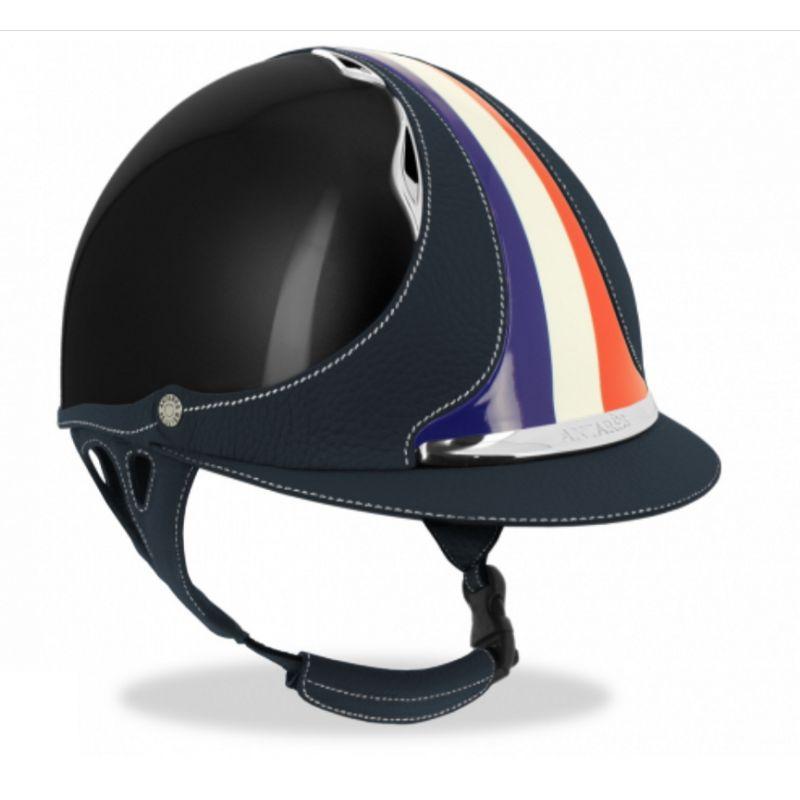 Custom Made Antarès Helmet - Flag riding helmet  - Mon Cheval