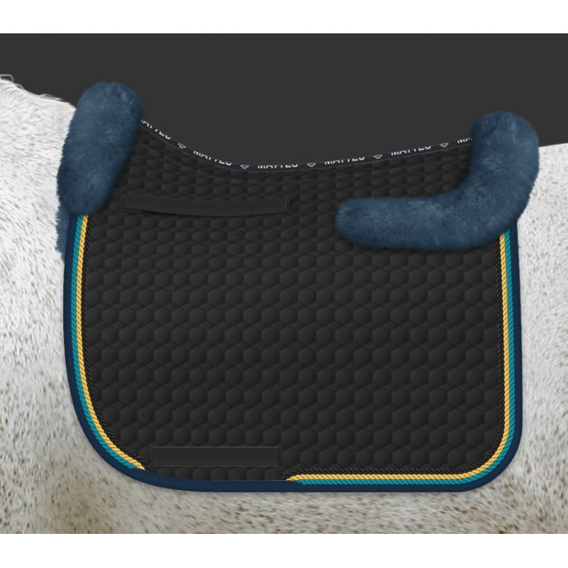 Mattes saddle pad with sheepskin back protector - design your own
