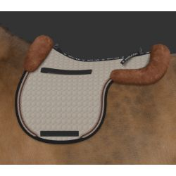 Mattes Hunter saddle pad with sheepskin back protector - design your own