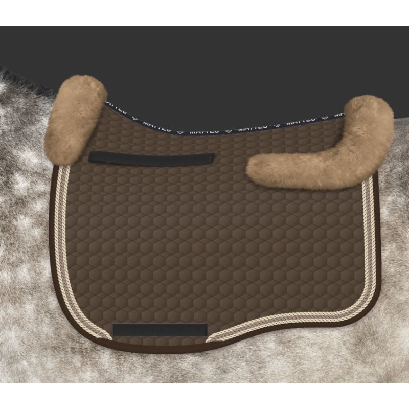 Mattes Eurofit saddle pad with sheepskin back protector - design your own