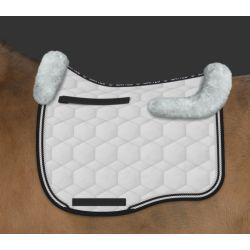Mattes Velvet  and sheepskin Eurofit saddle pad - design your own