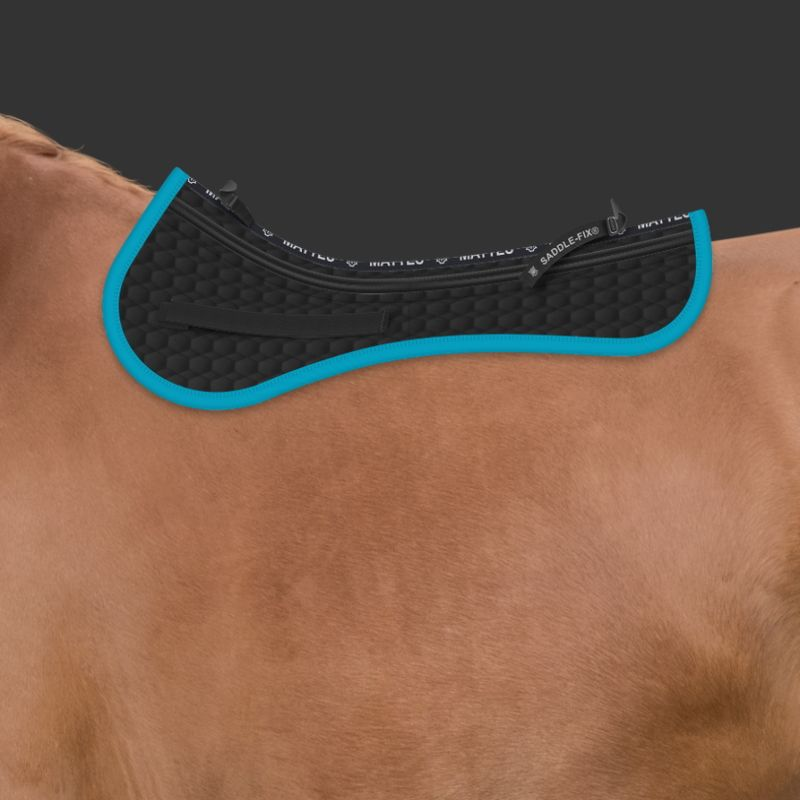 Made to mesure Mattes saddle pad with chose your own corrective pads