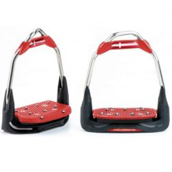 Freejump Air'S Stirrups offset eye, flat tread - design your own - Mon cheval